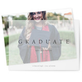 This is a black vellum graduation announcement by Mere Paper called Minimal Joy with standard printing on translucent vellum in overlay.