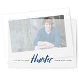This is a blue vellum graduation announcement by Carrie ONeal called Next Step with standard printing on translucent vellum in overlay.