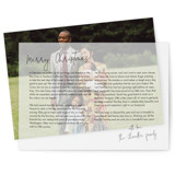 This is a black vellum holiday card by Minted called Annual Letter with standard printing on translucent vellum in overlay.