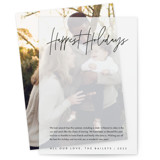 This is a black vellum holiday card by JoAnn Jinks called headline with standard printing on translucent vellum in overlay.