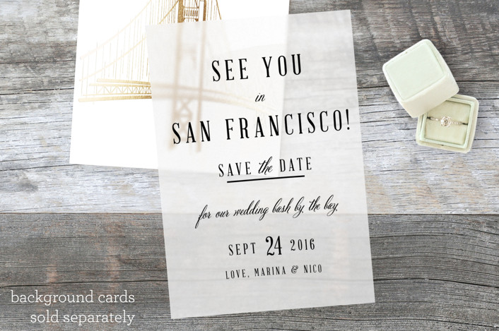 """""""See You In San Francisco"""" - Rustic Vellum Overlay in Noir by Elly."""