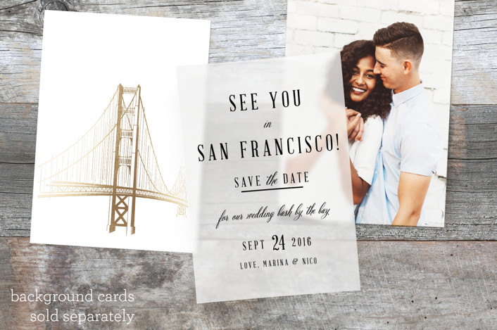 """See You In San Francisco"" - Rustic Vellum Overlay in Noir by Elly."
