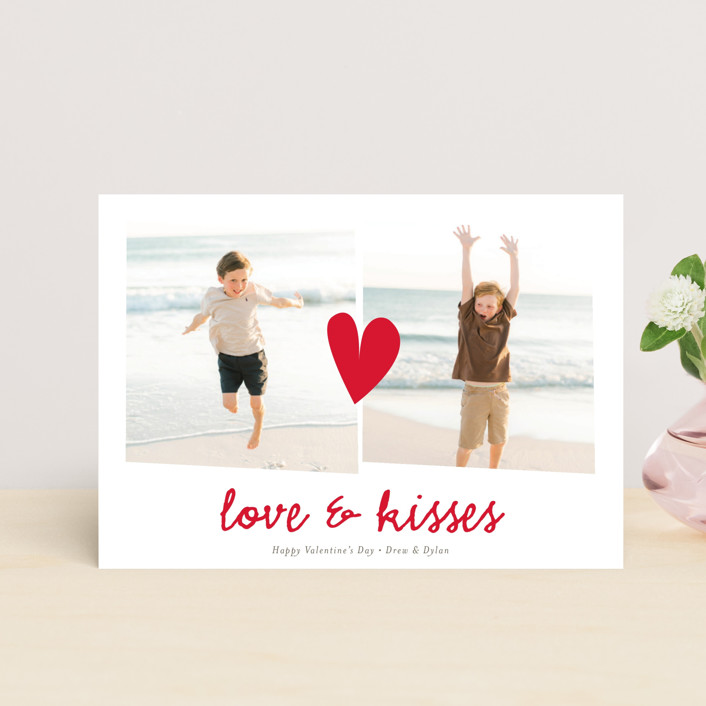 """""""Double the Love"""" - Valentine's Day Petite Cards in Lipstick by chica design."""