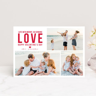 Late Merry Valentine's Day Petite Cards