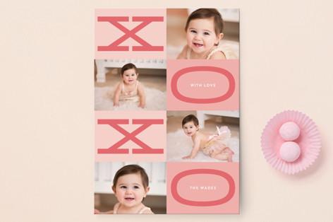 Kiss Hug Kiss Hug Valentine's Day Petite Cards