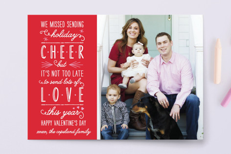 Love This Year Instead Of Cheer Valentine's Day Petite Cards