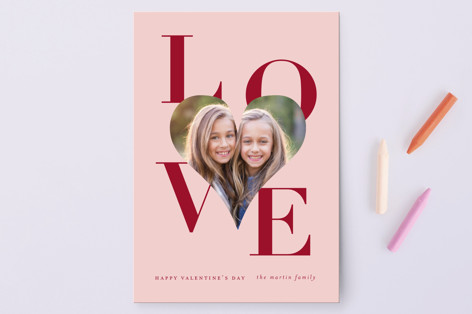 Big Heart Love Valentine's Day Petite Cards