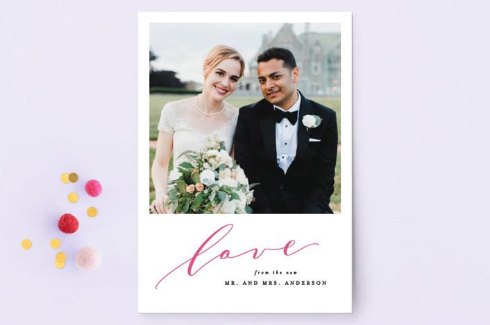 """Classic Love"" - Valentine's Day Petite Cards in Fuchsia by Ana Sharpe."