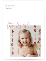 This is a red valentines day by Design Lotus called modern sentimental with standard printing on smooth signature in petite.