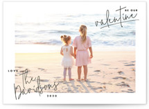 This is a black valentines day by Lindsay Stetson Thompson called Hand-written Valentine with standard printing on smooth signature in petite.