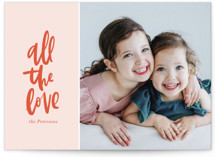 This is a pink valentines day by Vine and Thistle called All the Love with standard printing on smooth signature in petite.