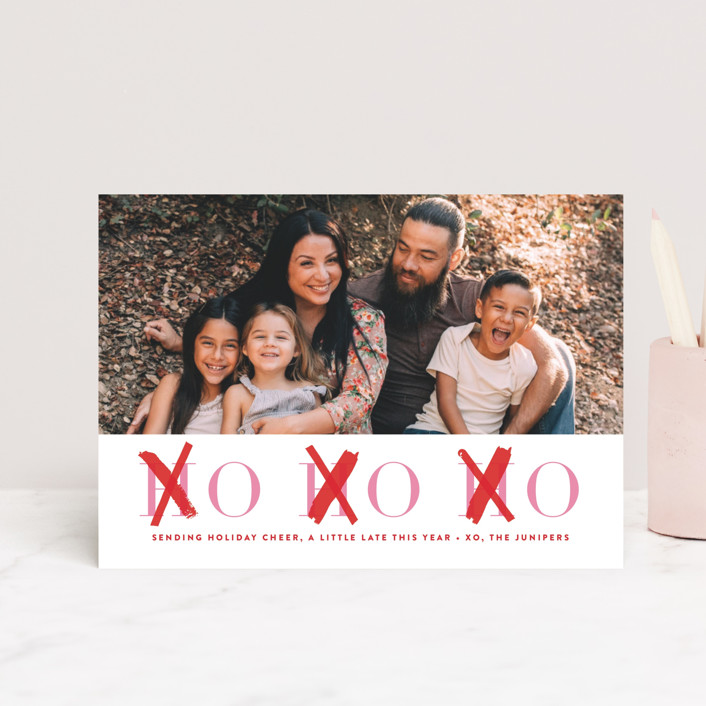 """""""HOHOXO"""" - Funny Valentine's Day Petite Cards in Scarlet by Lori Wemple."""
