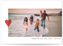 This is a red valentines day by Up Up Creative called Modern Heart with standard printing on smooth signature in petite.