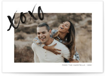 This is a white valentines day by Ink and Letter called XO Frame with standard printing on smooth signature in petite.