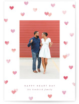 This is a pink valentines day by Hooray Creative called Painted Hearts with standard printing on smooth signature in petite.
