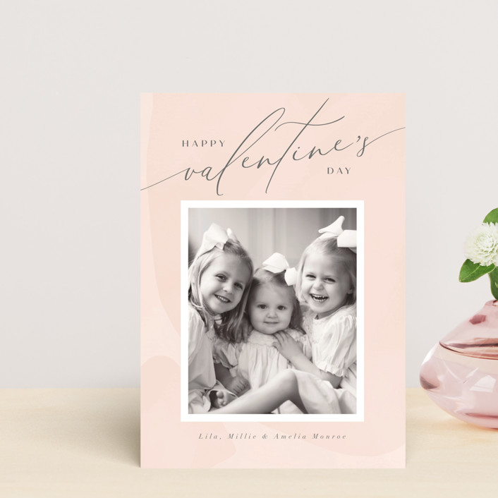 """Delight"" - Valentine's Day Petite Cards in Blush by Nicoletta Savod."