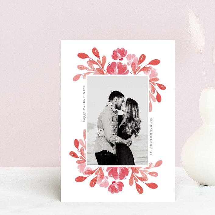 """""""Amour"""" - Valentine's Day Petite Cards in Garnet by Mansi Verma."""