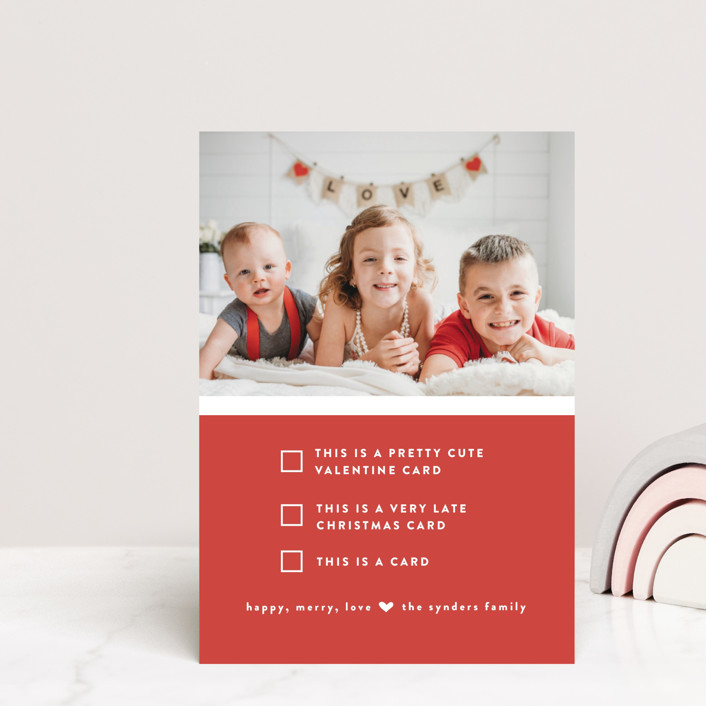 """""""Pick one"""" - Funny, Preppy Valentine's Day Petite Cards in Cherry by Susan Brown."""