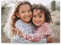 This is a white valentines day by Kristen Smith called Festive Script with standard printing on smooth signature in petite.