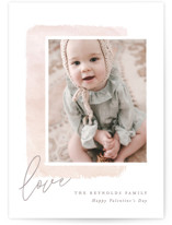 This is a pink valentines day by Hooray Creative called Modern Watercolor with standard printing on smooth signature in petite.