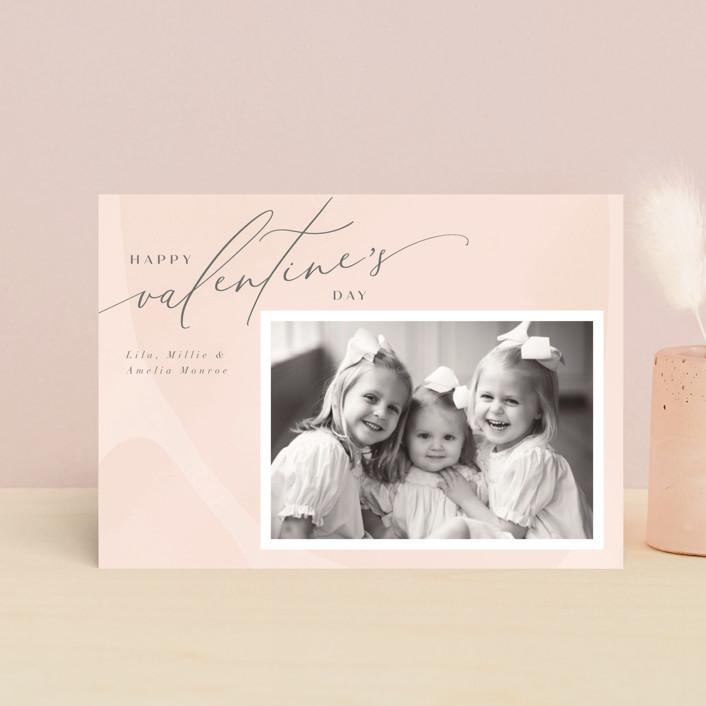 """Delight"" - Valentine's Day Petite Cards in Blush by Nicoletta Savod."