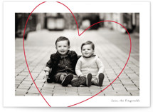 This is a white valentines day by Jackie Crawford called Big Heart Love with standard printing on signature in petite.