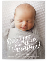 This is a white valentines day by Nicole Barreto called Lettered Little Valentine with standard printing on signature in petite.