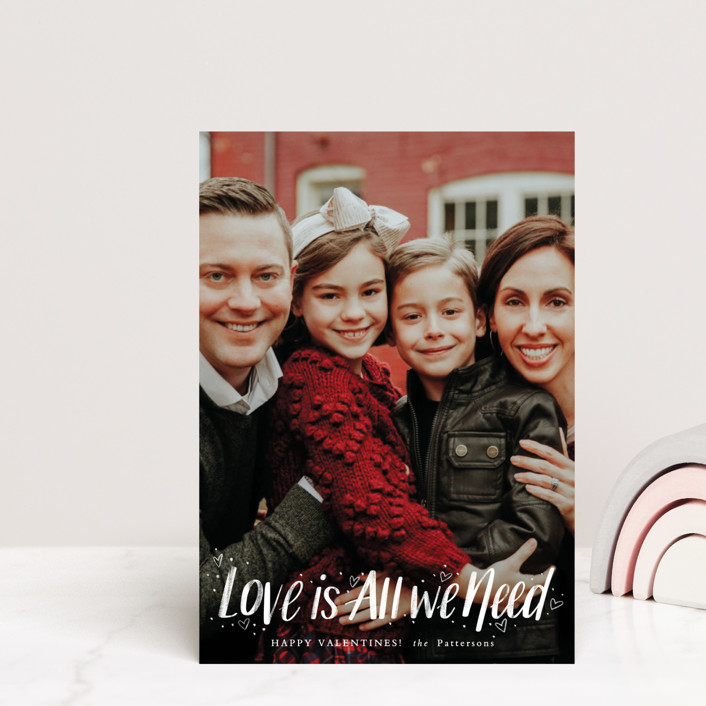 """""""Love Is All"""" - Valentine's Day Petite Cards in Ruby by Cindy Reynolds."""