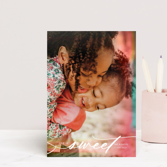 """""""Sweet Filter"""" - Valentine's Day Petite Cards in Cotton Candy by Kamala Nahas."""