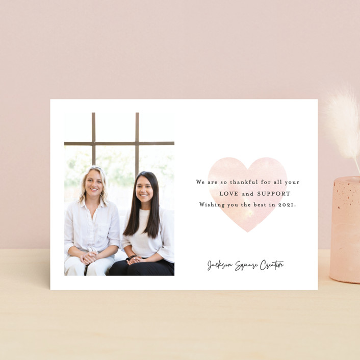 """""""Thankful for your Love"""" - Valentine's Day Petite Cards in Blush by Mansi Verma."""
