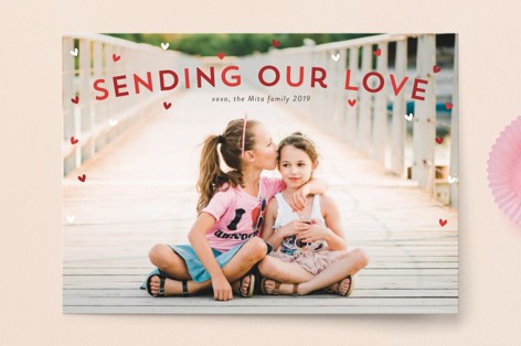 Sprinkle of Hearts Valentine's Day Postcards