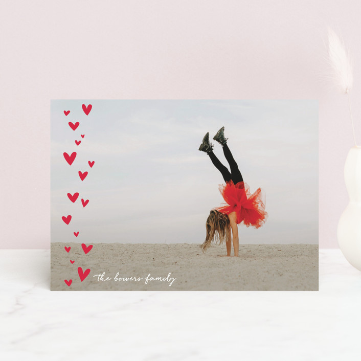 """""""Lots of Hearts"""" - Valentine's Day Postcards in Rose by Erin Deegan."""