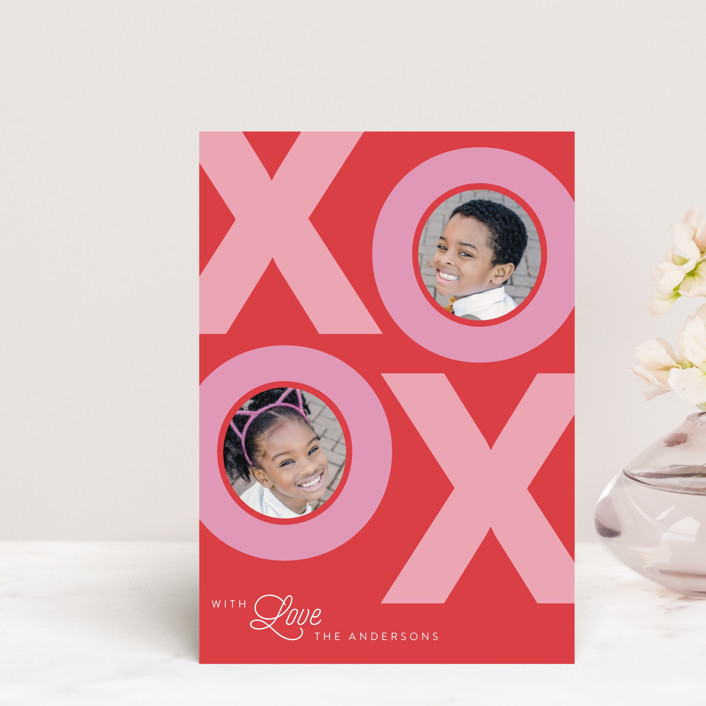 """""""With Love"""" - Valentine's Day Postcards in Cherry by Catherine Culvenor."""