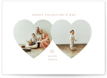 This is a brown valentine postcard by Kanika Mathur called Heart Frames with standard printing on signature in postcard.