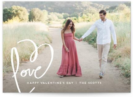 Love + Heart Valentine's Day Postcards