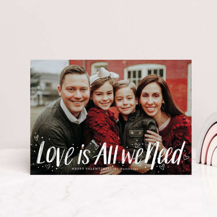 """""""Love Is All"""" - Valentine's Day Postcards in Ruby by Cindy Reynolds."""