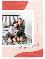 This is a pink valentine postcard by Pixel and Hank called Shades with standard printing on signature in postcard.