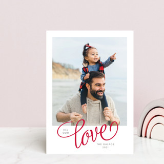 With All Our Love Valentine's Day Postcards