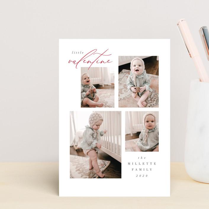 """""""Quartet"""" - Preppy Valentine's Day Postcards in Snow by Nicoletta Savod."""
