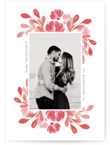 This is a red valentine postcard by Mansi Verma called Amour with standard printing on signature in postcard.