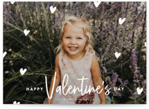 This is a white valentine postcard by Iveta Angelova called Love all around with standard printing on signature in postcard.