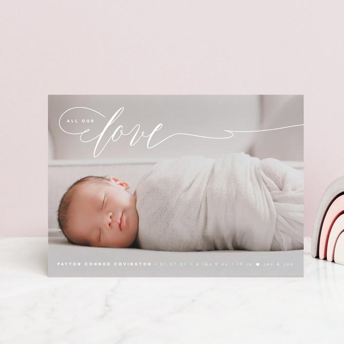 """Our Love"" - Valentine's Day Postcards in Marshmallow by Kann Orasie."
