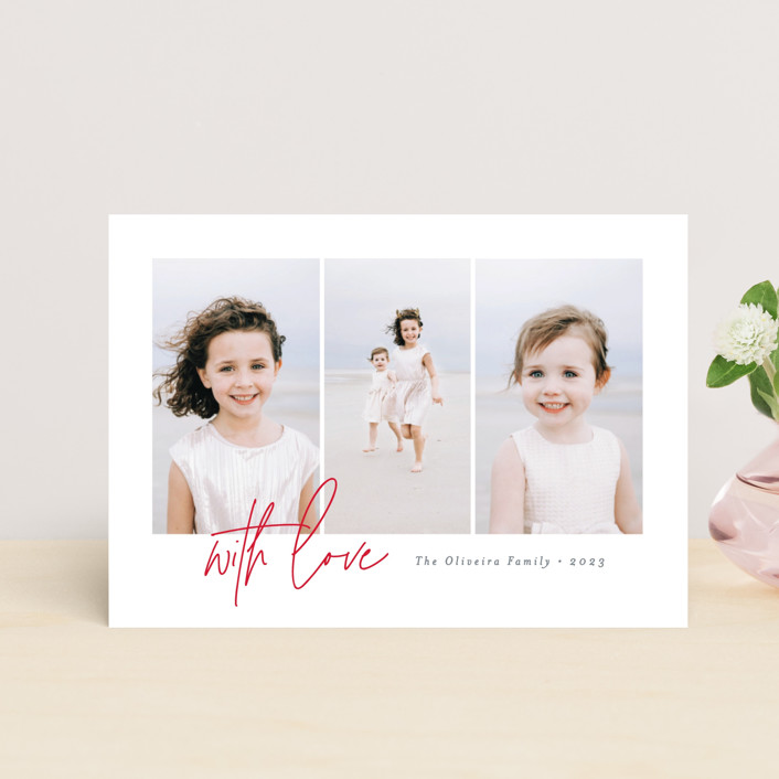 """Clarity"" - Preppy Valentine's Day Postcards in Strawberry by Ana Sharpe."