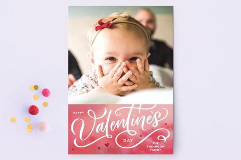 Valentines Script Valentine's Day Postcards