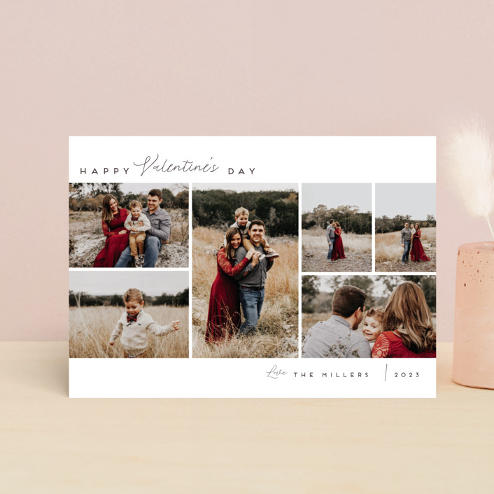 """""""Valentine's Photo Roll"""" - Valentine's Day Postcards in Pearl by Nicole Walsh."""