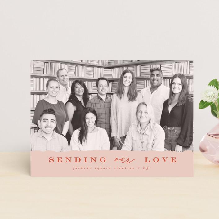 """corporate love"" - Valentine's Day Postcards in Rose by Anastasia Makarova."