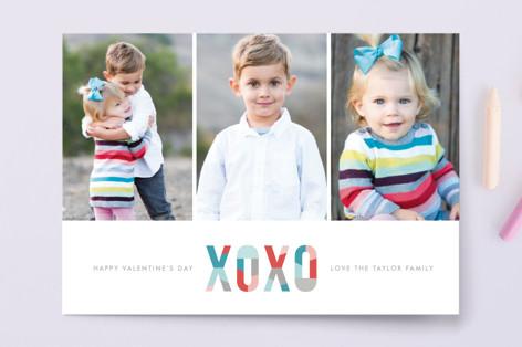 Modern XOXO Valentine's Day Postcards