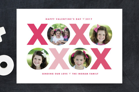 X & O Valentine's Day Postcards