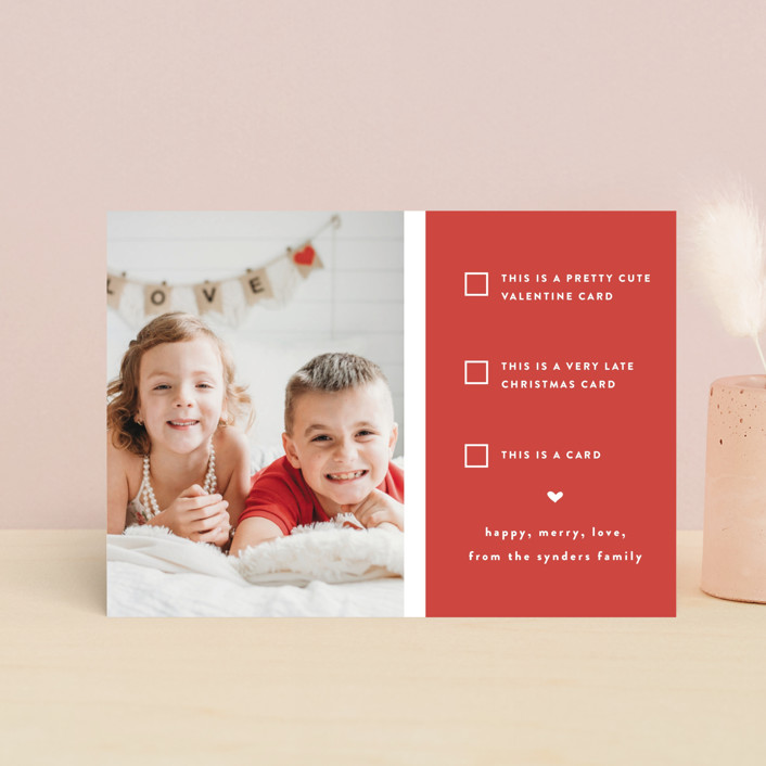 """""""Pick one"""" - Funny, Preppy Valentine's Day Postcards in Cherry by Susan Brown."""