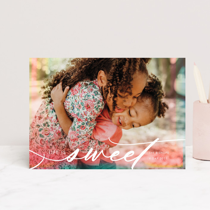 """""""Sweet Filter"""" - Valentine's Day Postcards in Cotton Candy by Kamala Nahas."""